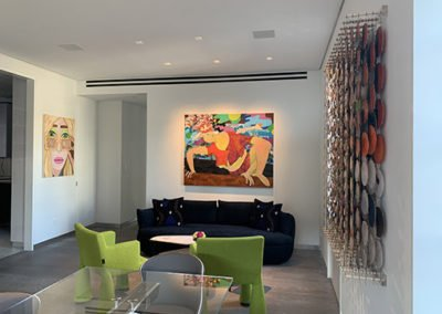 Artwork in Penthouse living room