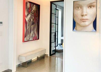 Artwork in penthouse foyer